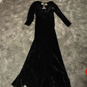 Calling all sewers! 1920s velvet gown